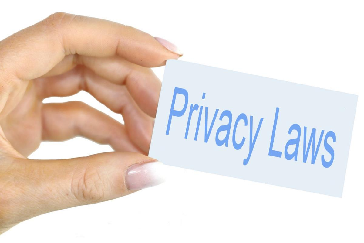 Privacy Laws - Hand held card image