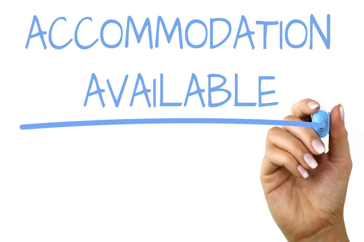 Accommodation Available