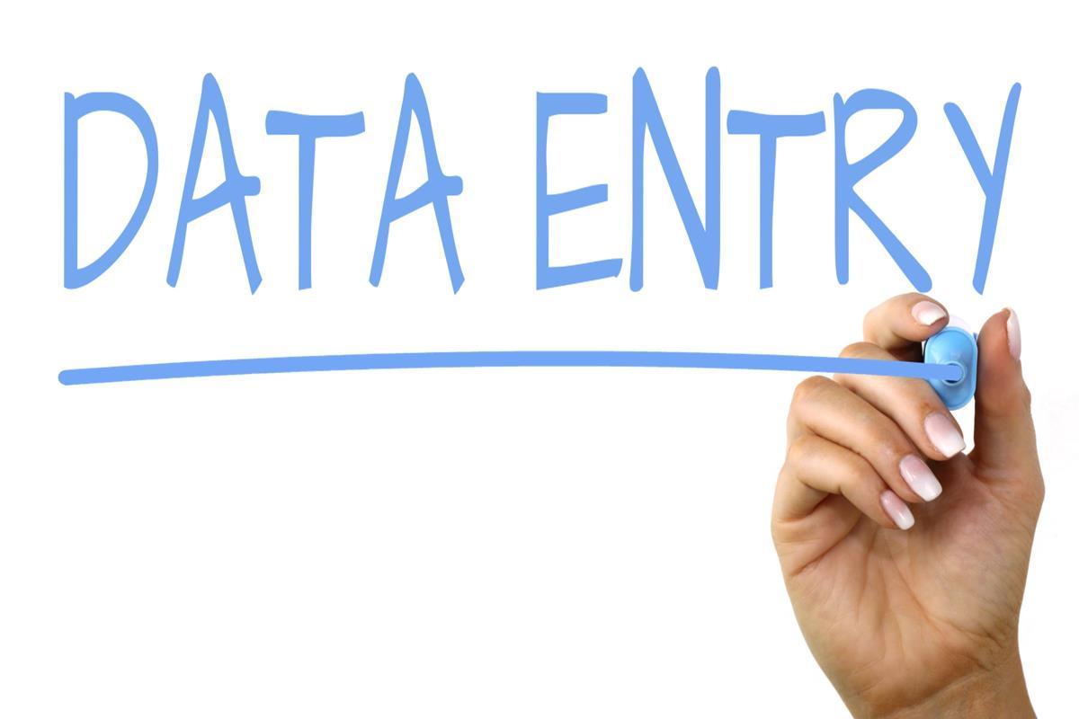 data entry handwriting image