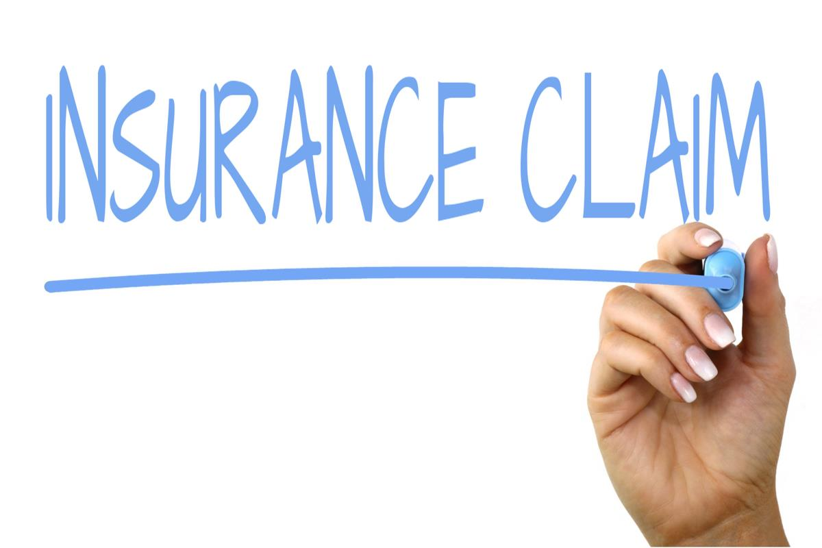 Insurance Claim - Handwriting image