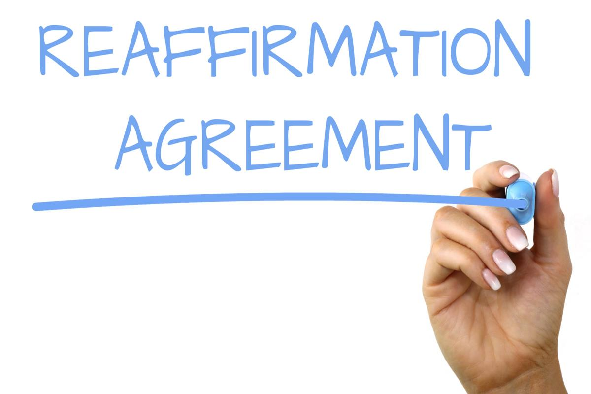 Reaffirmation Agreement Handwriting Image