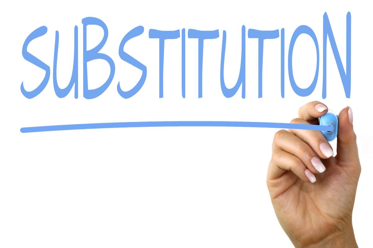 substitution handwriting image