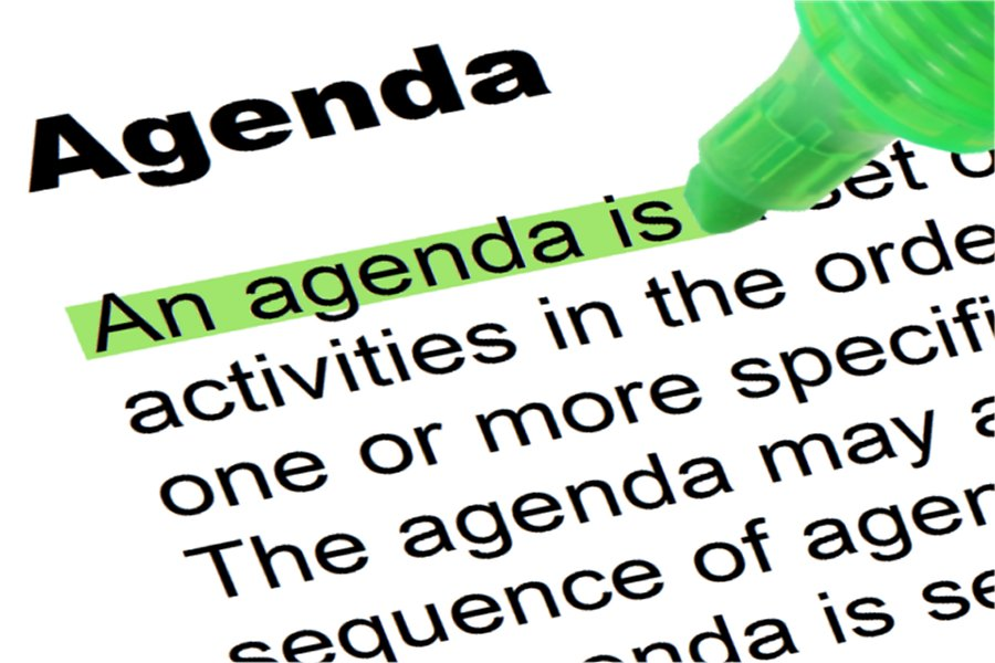 Agenda  Highlighted Words And Phrases