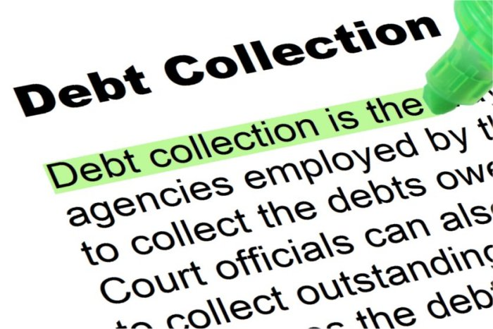 debt collection highlighted words and phrases