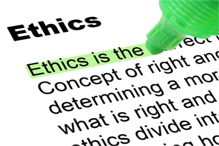 ethics highlighted words and phrases ethics