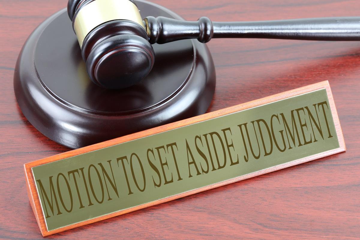 Motion To Set Aside Judgement