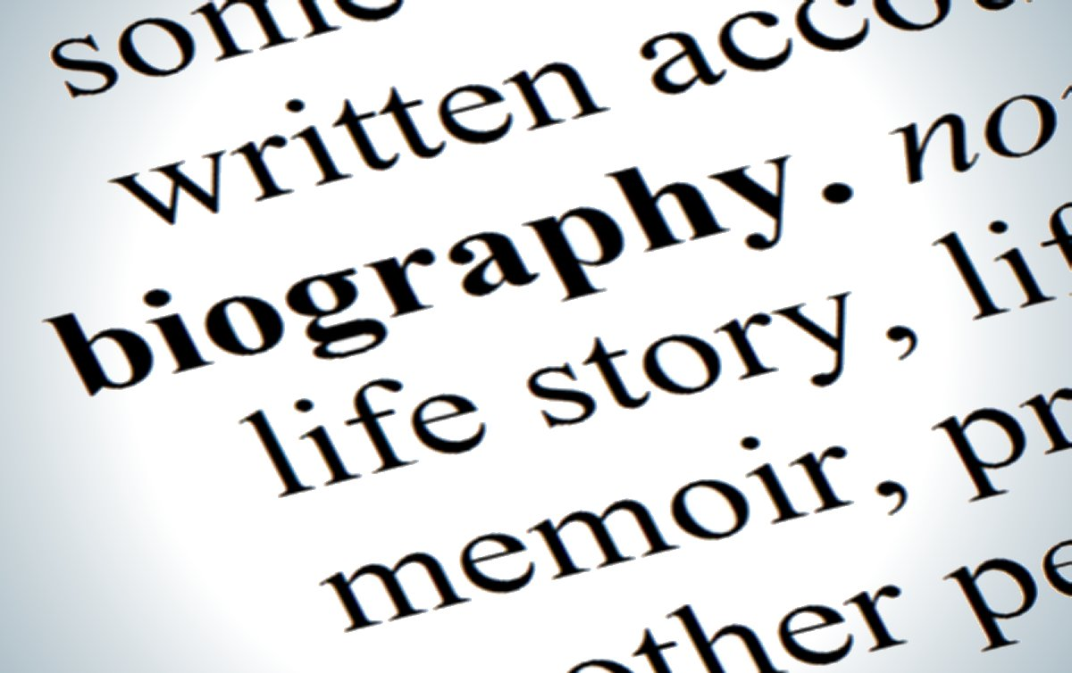 Biography--with dictionary definition