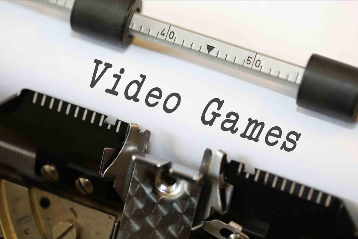 Video Games - Free of Charge Creative Commons Typewriter image